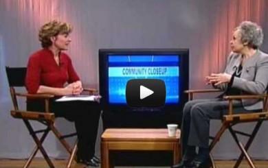 Image of Janice Collins interviewing Caroline Miller