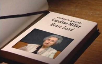 Image of tv screen shot of Caroline Miller