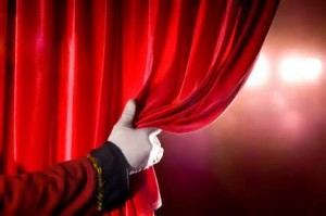 opening curtain of a play